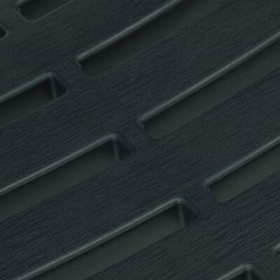 vidaXL Sammenleggbart bistrosett 3 deler plast grønn