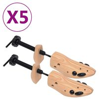 vidaXL Skotrær 5 par størrelse 36-40 heltre furu