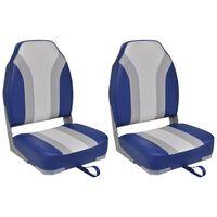 vidaXL Sammenleggbare båtstoler 2 stk høy ryggstøtte
