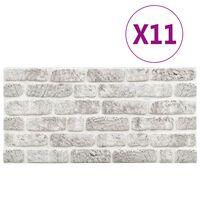 vidaXL 3D veggpaneler med lysegrått mursteindesign 11 stk EPS