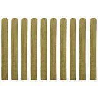 vidaXL Gjerdelameller 10 stk impregnert tre 100 cm