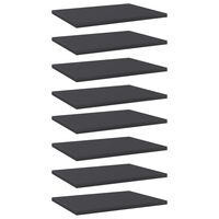 vidaXL Hylleplater 8 stk grå 40x30x1,5 cm sponplate