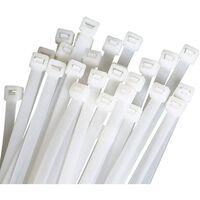 Kabelbånd Gjenbrukbare 100-pakning Hvit (9,6x350mm)