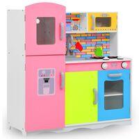 vidaXL Lekekjøkken for barn MDF 80x30x85 cm flerfarget