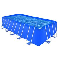 Rektangulært badebasseng med stålramme 540 x 270 x 122 cm