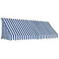 vidaXL Markise 300x120 cm blå og hvit