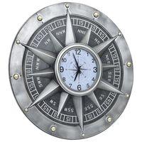 vidaXL Veggklokke sølv 79 cm MDF og metall
