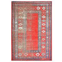 vidaXL Teppe rød 120x170 cm PP
