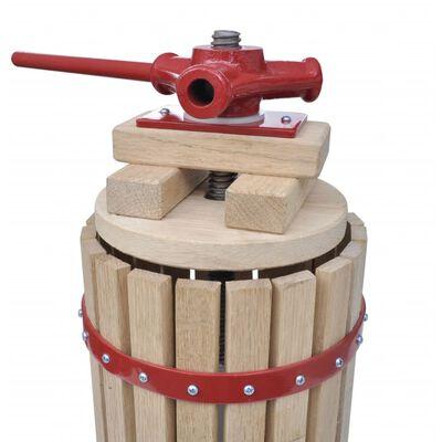 vidaXL Frukt- og vinpresse 6 L