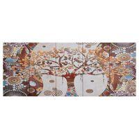 vidaXL Lerretsbilde tre flerfarget 150x60 cm