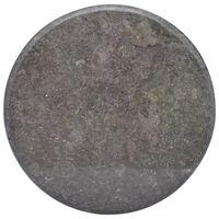 vidaXL Bordplate svart Ø60x2,5 cm marmor
