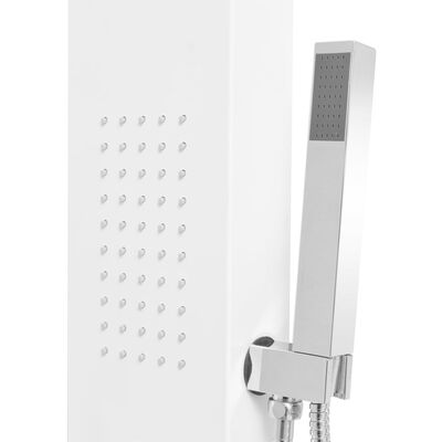 vidaXL Dusjpanel aluminium matt hvit