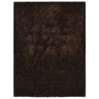 vidaXL Shaggy flossteppe 160x230 cm brun