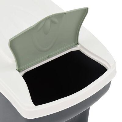 vidaXL Stablebare søppelbøtter 3 stk 60 L mørkegrå