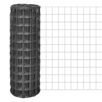 vidaXL Euro gjerde stål 25x0,8 m grå