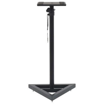 vidaXL Høyttalerstativ 2 stk svart stål