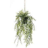 Emerald Kunstig hengende bambusbusk i potte 60 cm