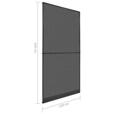 vidaXL Insektskjerm med hengsler for dør antrasitt 120x240 cm