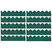 vidaXL Plenkanter 10 stk grønn 65x15 cm PP