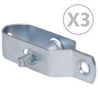 vidaXL Gjerdetrådstrammere 3 stk 90 mm stål sølv