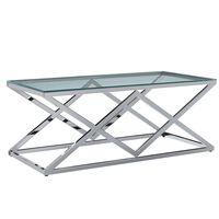 vidaXL Salongbord 120x60x45 cm herdet glass og rustfritt stål