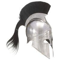 vidaXL Hellensk krigerhjelm antikk replika LARP sølv stål
