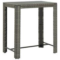vidaXL Utendørs barbord grå 100x60,5x110,5 cm polyrotting