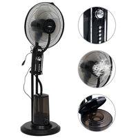 vidaXL Sokkelvifte og luftfukter med 3 vindhastigheter svart