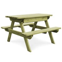 vidaXL Piknikbord med benker 90x90x58 cm impregnert furu