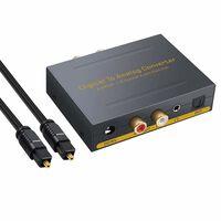 Digital til analog omformer - 2 Toslink / 2 koaksial til RCA R / L + 3