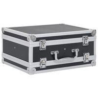 vidaXL Pistolkoffert aluminium ABS svart