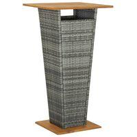 vidaXL Barbord grå 60x60x110 cm polyrotting og heltre akasie