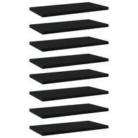 vidaXL Hylleplater 8 stk svart 40x20x1,5 cm sponplate