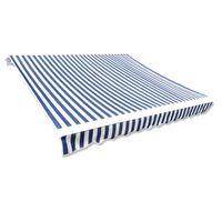 vidaXL Markiseduk blå og hvit 3 x 2,5 m (ramme ikke inkludert)