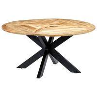 vidaXL Spisebord rund 150x76 cm heltre mango