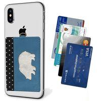 Mobiltelefon kortholder - blå