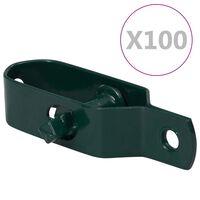 vidaXL Gjerdetrådstrammere 100 stk 100 mm stål grønn