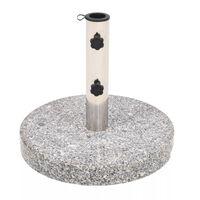vidaXL Parasollfot granitt rund 22 kg