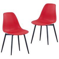 vidaXL Spisestoler 2 stk rød PP