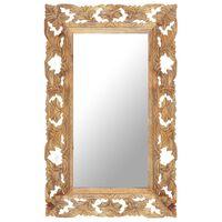 vidaXL Håndskåret speil brun 80x50 cm heltre mango