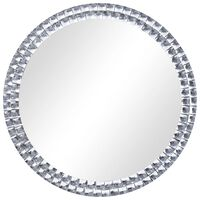 vidaXL Veggspeil sølv 70 cm herdet glass