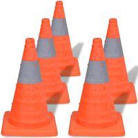 5 Pop-up trafikkjegler 42 cm