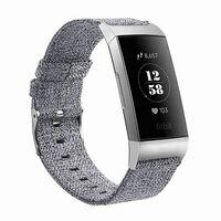 Fitbit Charge 3 Armbånd lerret grå - S
