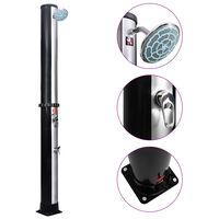 vidaXL Utendørs soldrevet dusj med dusjhode og kran 40 L
