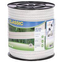 Neutral Elektrisk gjerdeteip Classic 200 m 40 mm hvit