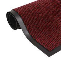 vidaXL Støvkontroll matte rektangulær tuftet 80x120 cm rød