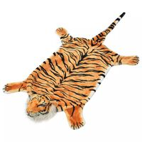 vidaXL Tigerteppe plysj 144 cm brun