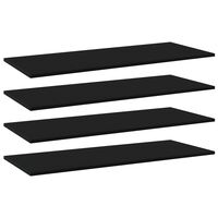 vidaXL Hylleplater 4 stk svart 100x40x1,5 cm sponplate