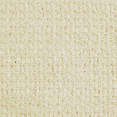 42290 vidaXL Solseil Seil HDPE Trekant 3,6x3,6x3,6 m Krem
