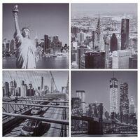 vidaXL Lerretsbilde New York flerfarget 80x80 cm